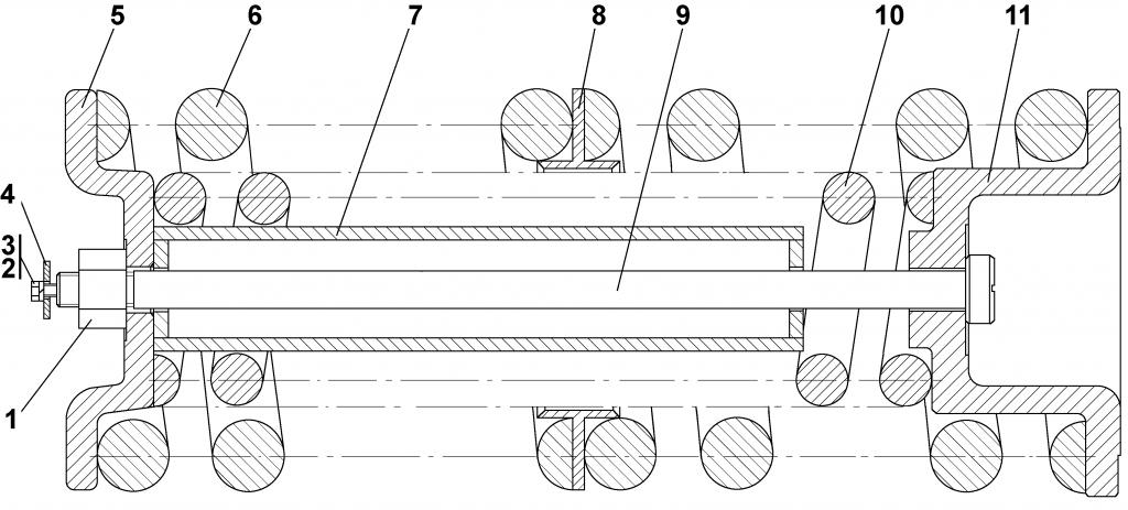 2501-21-45СП Механизм сдавания - Каталог ЧЕТРА Т 25.01, ЧЕТРА Т 25, Т 2501, ЧЕТРА Т25 1